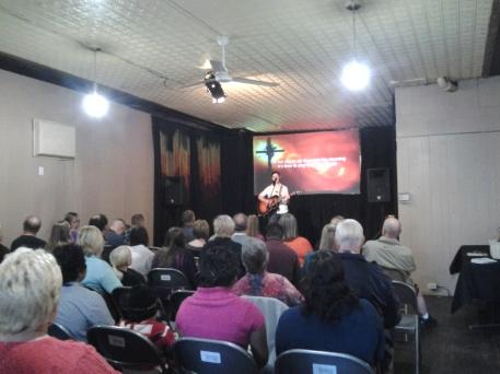 Rachel Kuphal leading worship (She did AWESOME!)